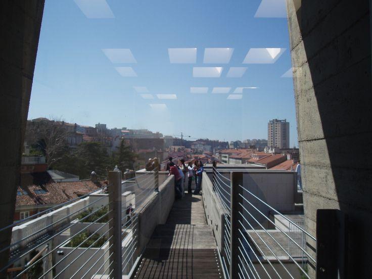 Museo Revoltella, Trieste - La terrazza vista dall'interno del sesto piano