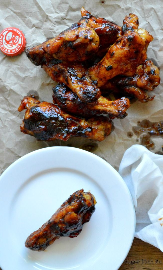 Honey Sriracha Wings cooked with Beer