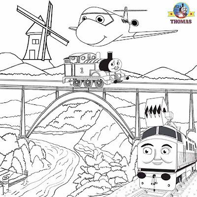 Summer Kids activities Thomas train picture sheets magic railroad Thomas diesel 10 coloring pages