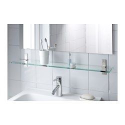 """IKEA - GRUNDTAL, Glass shelf, , 23 5/8 """", , Tempered glass - extra resistant to heat, impact and heavy loads."""