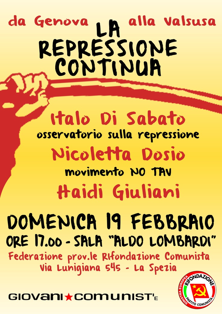 Iniziativa sulla repressione  19.02.2012