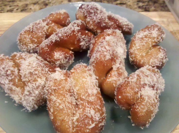 """Should not, but I do love this South African doughnut """"Koeksisters."""