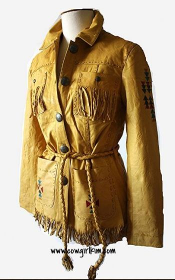 Cowgirl Fashion :: Jackets and Blazers :: DOUBLE D RANCH LIGHTFOOT LEATHER JACKET! - Native American Jewelry|Ladies Western Wear|Double D Ra...