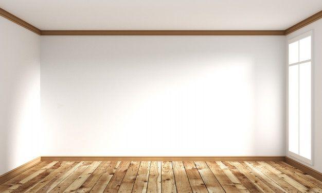 Wooden Floor Japanese Style Empty Room Interior 3d Rendering