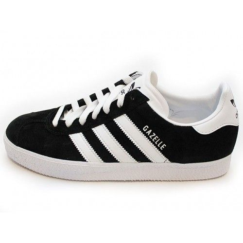 Adidas Gazelle Black with White Stripe. The classic Adidas Gazelle sneaker  was originally released in