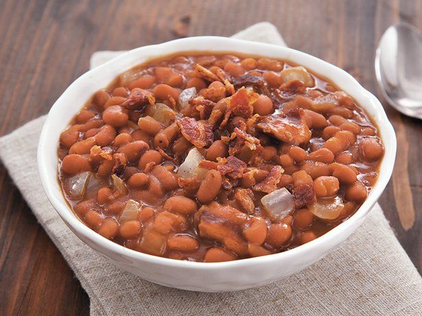 Bacon and baked beans come together in this slow cooked side dish that ...