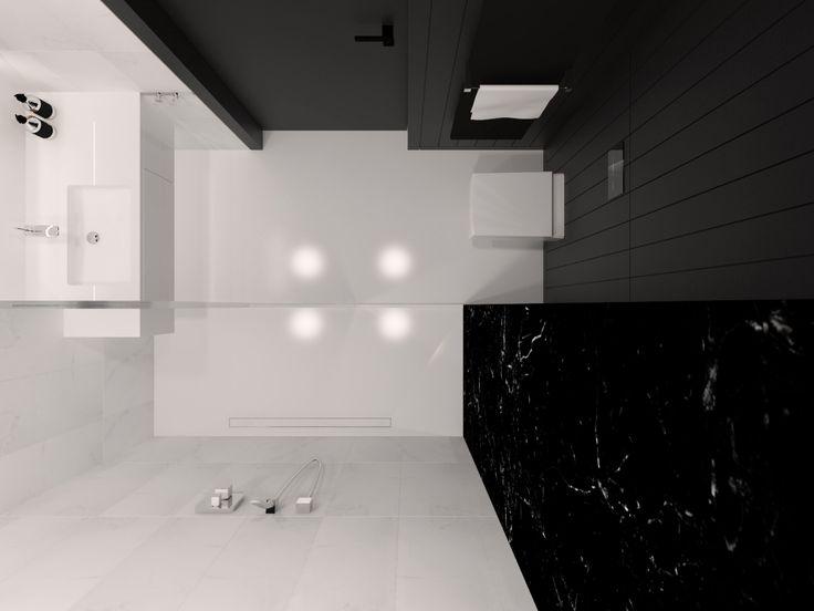 Bathroom design 5,02m2 Apartment 64m2, Warsaw, Poland. www.artandarchitecture.pl