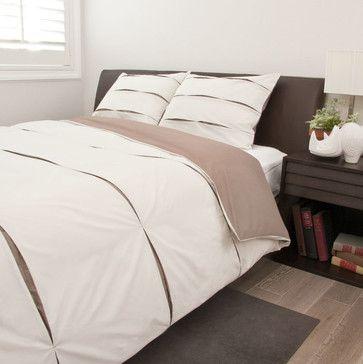 Texture Eyelet Duvet Cover, The Vista Beige - contemporary - duvet covers - san francisco - Crane & Canopy