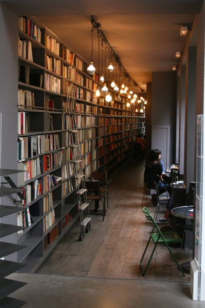 bookstore in Paris - I could spend forever in a place like this - would just need to learn the french language!