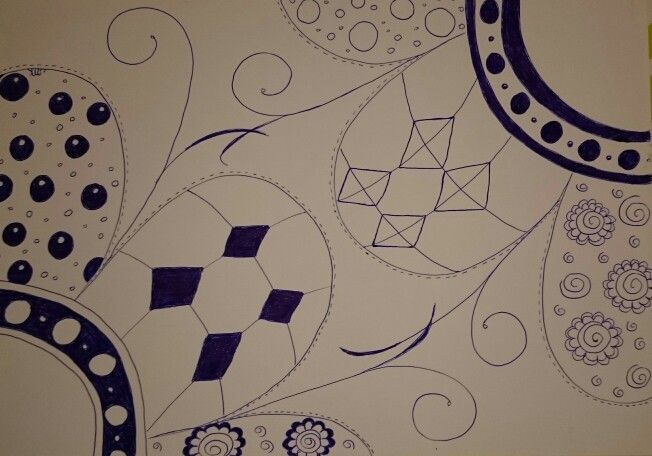 Zentangle of opposites
