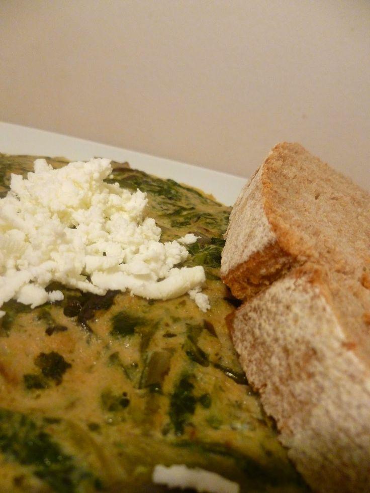 Food Memoir: Ομελέτα με χόρτα και τυρί φέτα