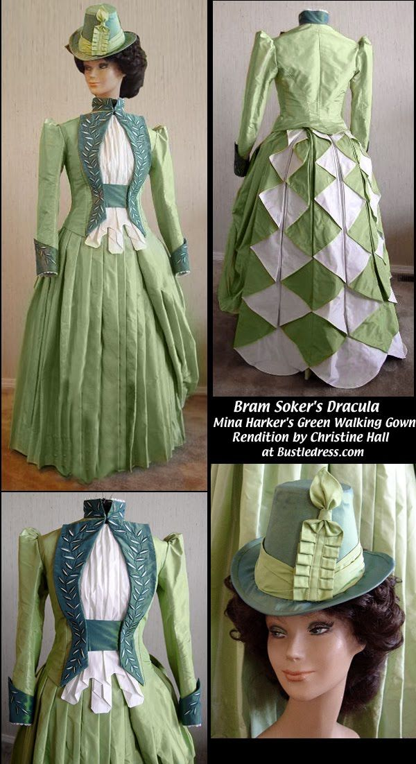 Google Image Result for http://2.bp.blogspot.com/_Ozo7z2zkqWs/TAHVOm7MgEI/AAAAAAAACoA/1PMGUxvysz0/s1600/Mina_Harkers_Green_Walking_Gown_from_Bram_Stokers_Dracula_by_Christine_Hall.jpg