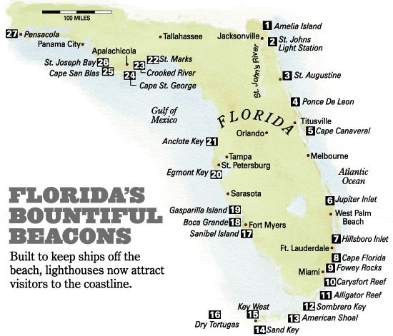 Florida Lighthouses Map.Where Are Lighthouses In Florida Photo Gallery Florida S