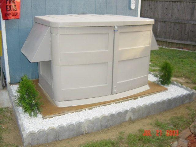 Outdoor generator shed bing images generator enclosure for Pool design generator