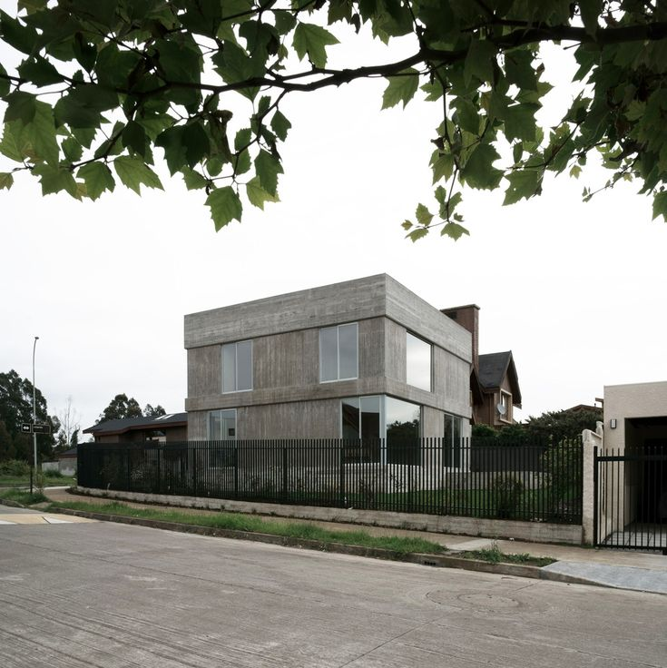 Good example of a cube house with less extreme windows and concrete.