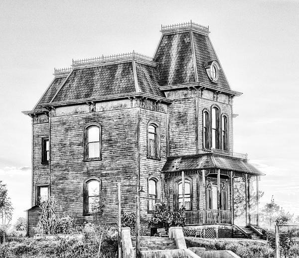 Bates Motel Haunted House Black And White