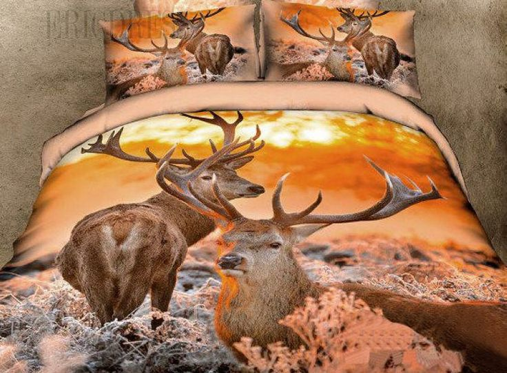 Deer 3D bedding set.  Great for the cottage or as a gift for a hunter.