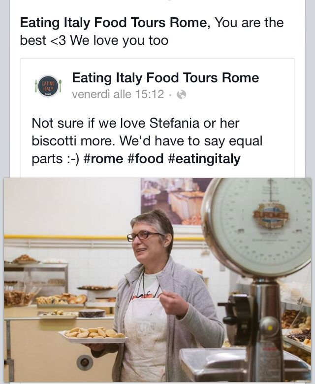 Eating Italy Food Tours Rome, You are the best <3 We love you too  Biscottificio Innocenti Roma Trastevere