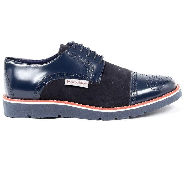Andrew Charles Mens Brogue Oxford Shoe (735 BRL) ❤ liked on Polyvore featuring men's fashion, men's shoes, men's oxfords, blue, shoes, mens shoes, mens blue brogues, mens brogue shoes and mens blue oxford shoes