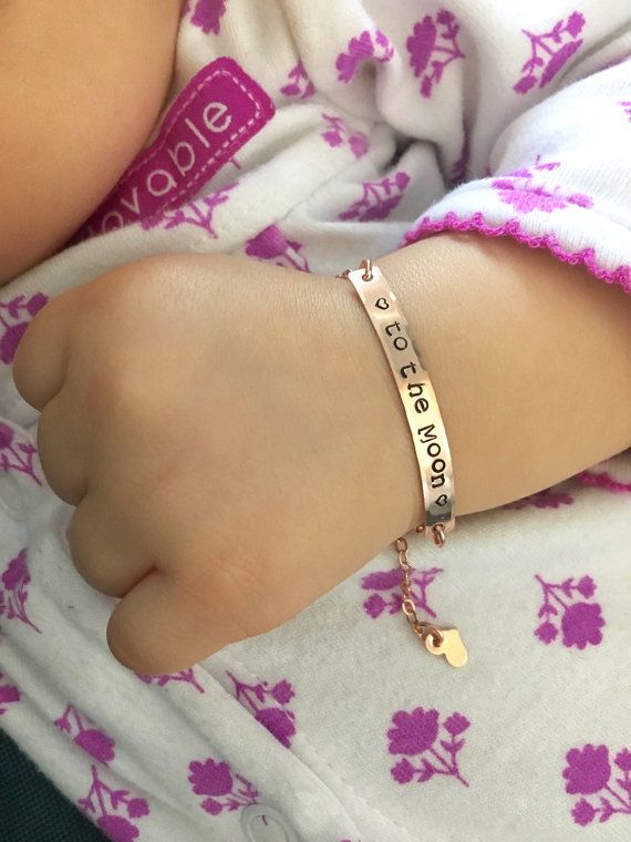 Flash Sale Personalized Baby Bracelet Hand Stamped by JCLJewelry