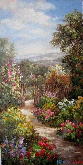 Original oil painting hand painted landscape oil by BlueSeaArts