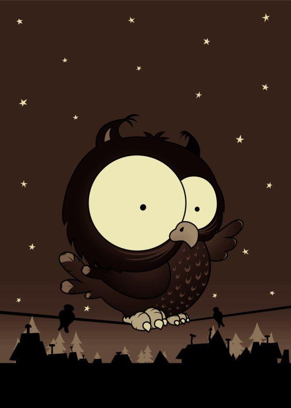 Little Owl V2 Metal Poster Mangulica Illustrations Displate Owl Art Print Poster Prints Cool Artwork