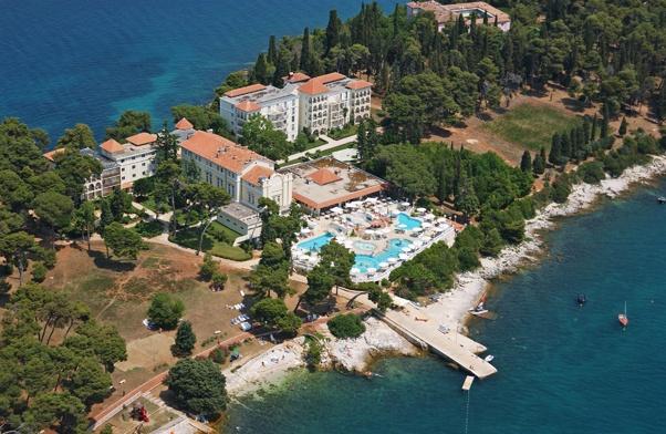 From above - hotel Katarina, Rovinj.  http://www.maistra.com/Accommodation/Hotels/Katarina_Rovinj