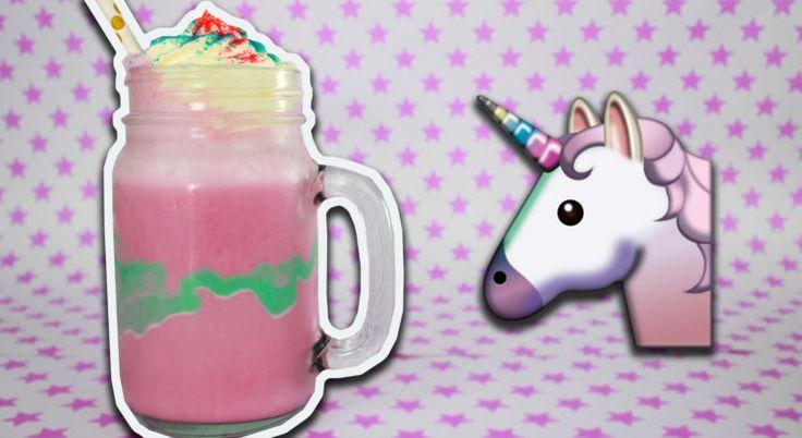 Frapuccino Unicornio al estilo Starbucks, receta fácil y divertida.