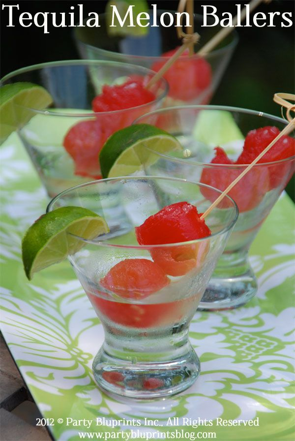 Tequila Party Melon Ballers – Friday Night Bites