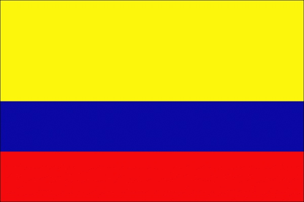 Colombia Flag - colour scheme baby shower. red hearts. yellow sun. blue dolphins