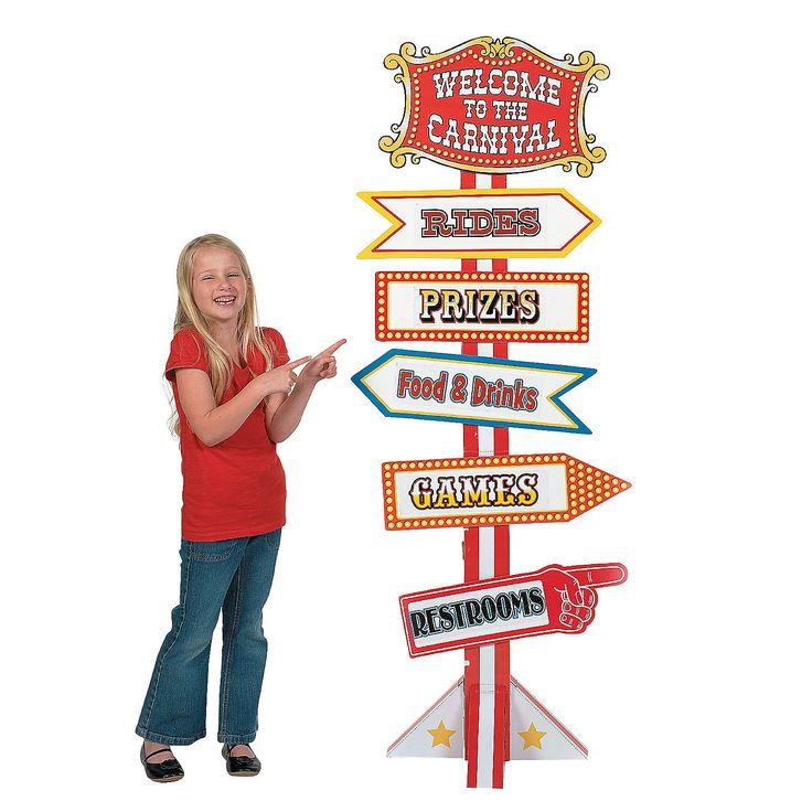 Big Top Directional Sign - OrientalTrading.com