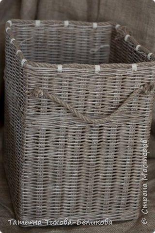 Поделка изделие Плетение Короба и коробки Бумага Бумага газетная Трубочки бумажные фото 11