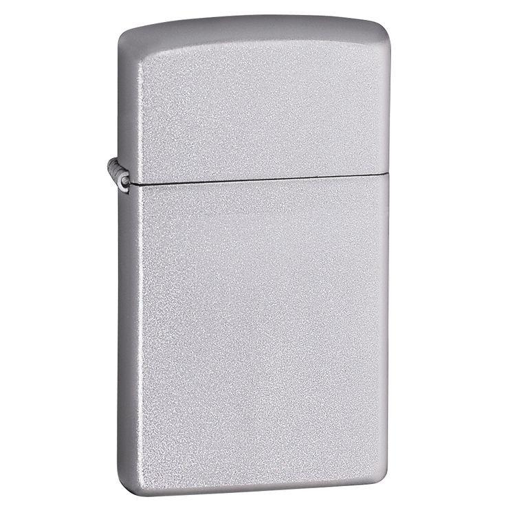 Zippo Slim Satin Chrome Lighter
