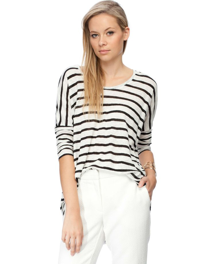LS Stripe Tunic by River Island | THE ICONIC