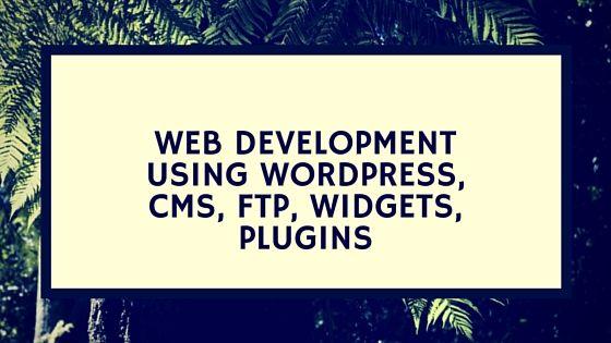 Web Development Using WordPress, CMS, FTP, Widgets, Plugins