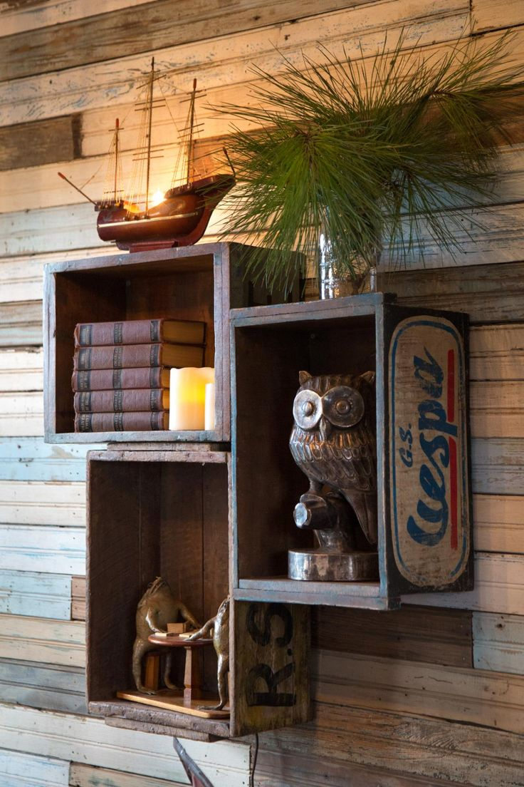 DIY shelving // old crates as shelves // TREEHOUSE episode // JUNK GYPSIES on GAC
