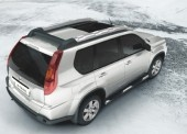 Nissan X-Trail (T31) Side Bars with Steps - S/Steel