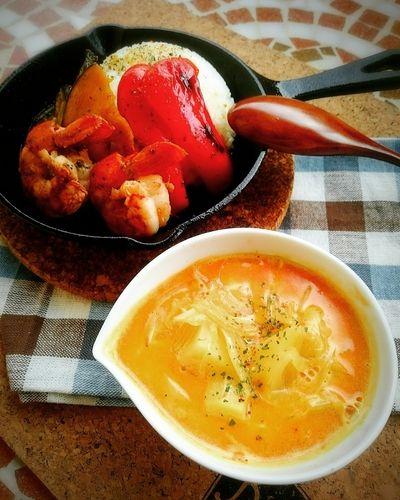 スキレットで🎵海老出汁スープカレー😄 by mamas_dishesさん | レシピ ...