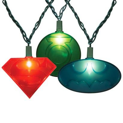 10ct Justice League String Lights - USD 14.99 DC Comics For the Holidays Pinterest String ...