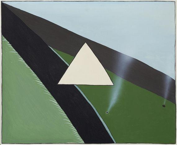 Artwork by Stanislaw Fijalkowski, XXXX Autostrada, Made of Oil on canvas, framed