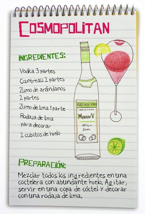 Cocteles ilustrados. Las mejores recetas de cocteles. Aprender a hacerlos. Un coctel para cada ocasion