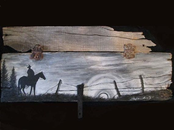 Hey, I found this really awesome Etsy listing at https://www.etsy.com/listing/236244967/acrylic-cowboy-silhouette-painting-on