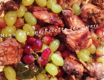 Mina e le sue Ricette del Cuore: Coniglio stufato al Barco Reale, con uva e olive