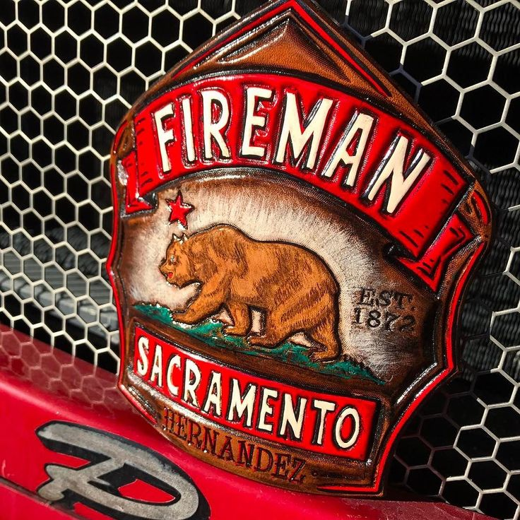 Sacramento Fire Department.  TryWorks Leather Co.  Bespoke Fire Helmet Shields of the highest quality.  Handcrafted in Maine.  http://ift.tt/2910W2a.  Visit our website or contact TryWorksLeather@gmail.com for order inquiries.  Prices starting at $195.00 #madeinmaine #fireshield #firefront  #firefighterowned #handcrafted #firehelmet #customleather #handpainted #sacramentofire #sacramentofiredepartment  #californiafire #californiarepublic