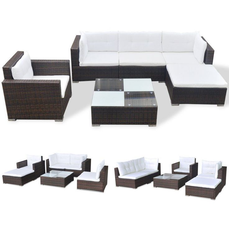 Festnight Wicker Rattan 17 Piece Garden Sofa Set Outdoor Patio Furniture Set Brown & Black >>> Details can be found by clicking on the image. (This is an affiliate link) #OutdoorFurniture