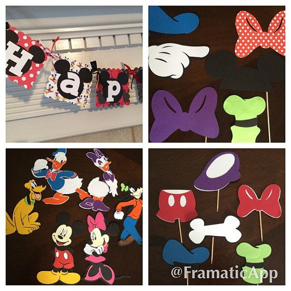 Mickey & friends party pack by MissKissCreations on Etsy