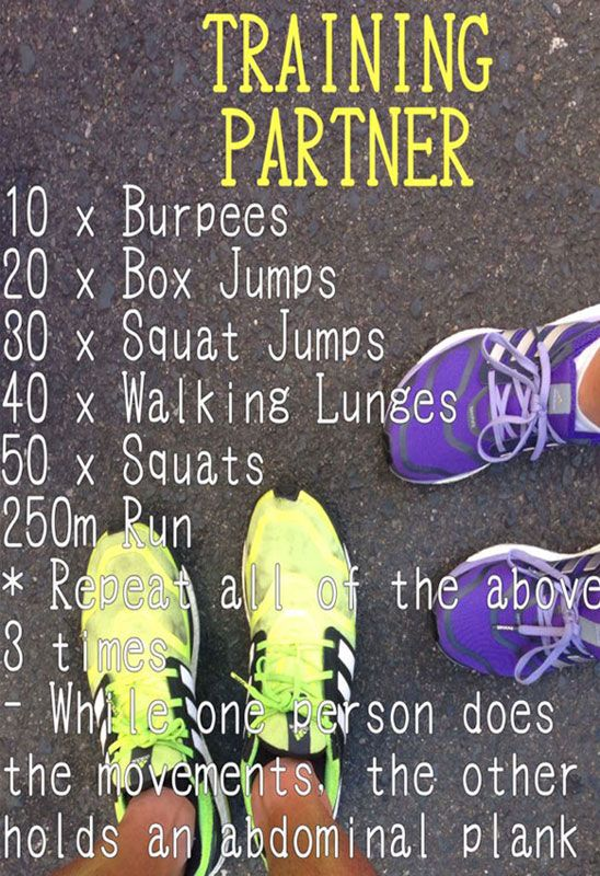 Training Partner Workout. Can be done solo as well!