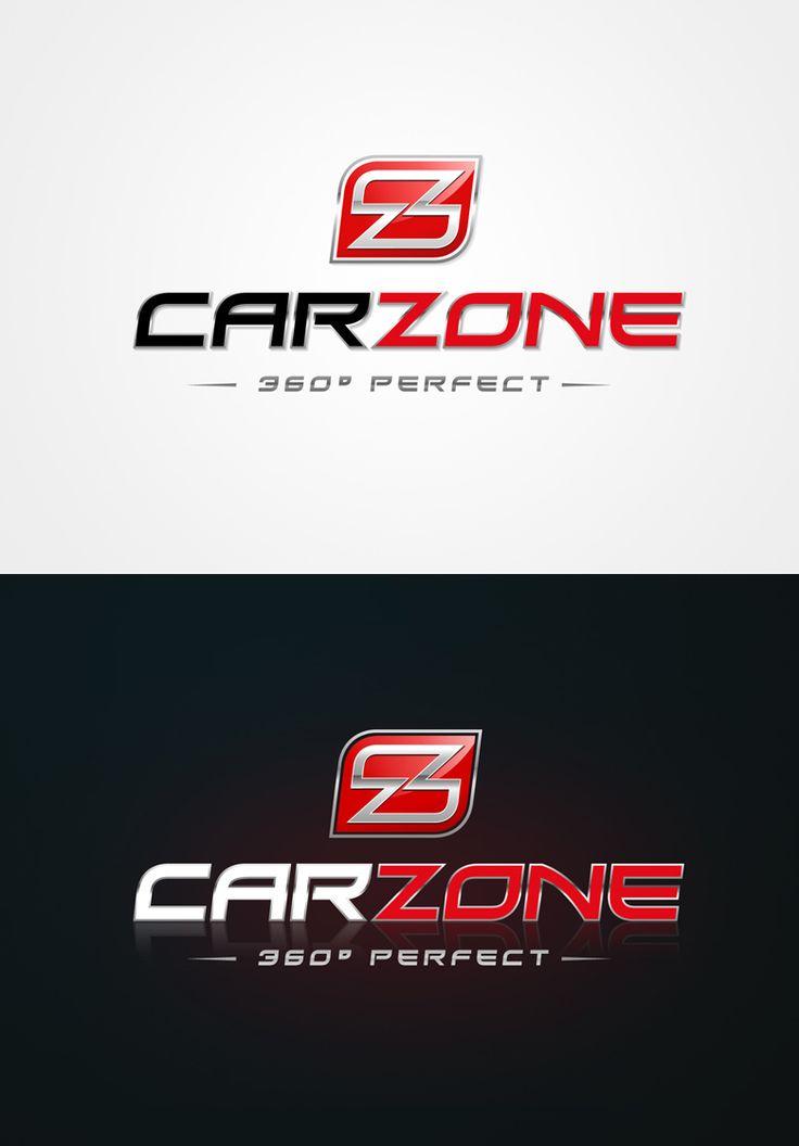"""Diseño de Logotipo para Car Zone, una compañía ubicada en Abu Dhabi (Emiratos Árabes) y que ofrece un servicio completo relacionado con la automoción: Venta de coches, lavado, """"detailling"""", accesorios del coche, piezas de encargo, venta de productos, programas de entrenamiento, etc..."""