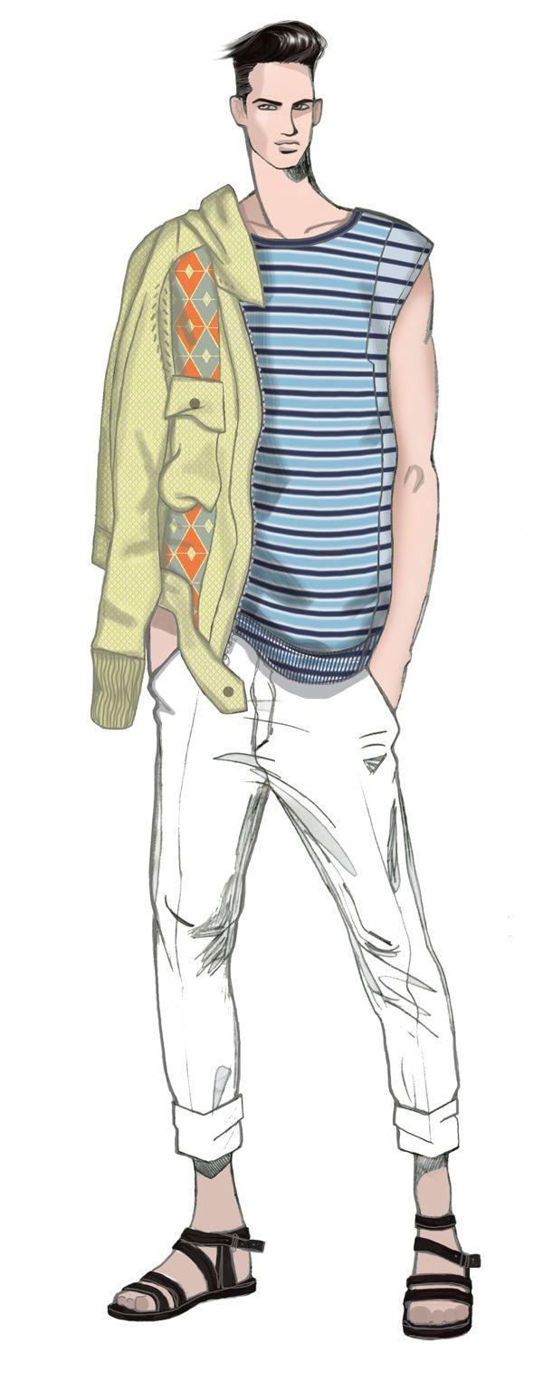 Men fashion illustration - photo#8