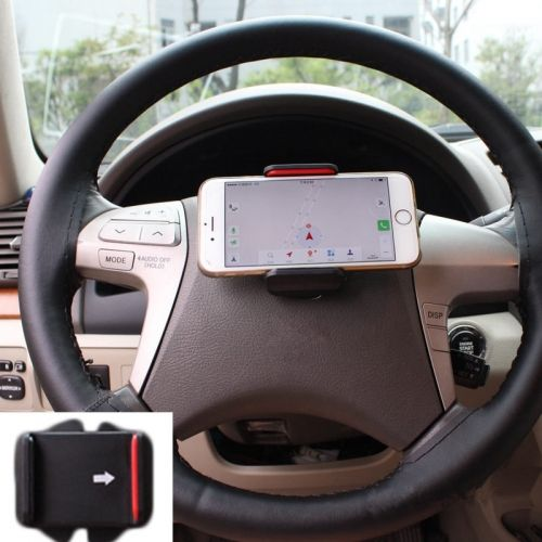 1PCS Universal Car Steering Wheel Phone Holders Navigation Bracket Cell Phone Clip Can Rotate 360 Degrees Car Accessories
